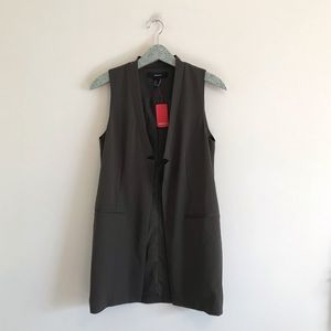 Forever 21 | NWT Olive Green Long Vest